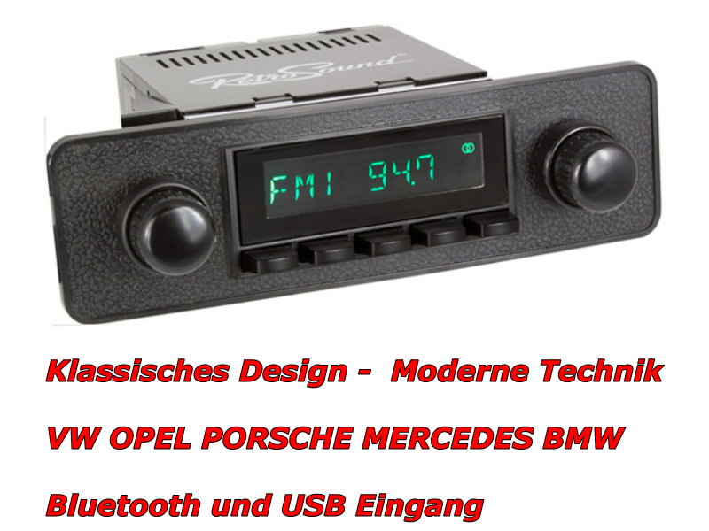 usb mp3 retro design classic car radio vw beetle 1968 bis. Black Bedroom Furniture Sets. Home Design Ideas