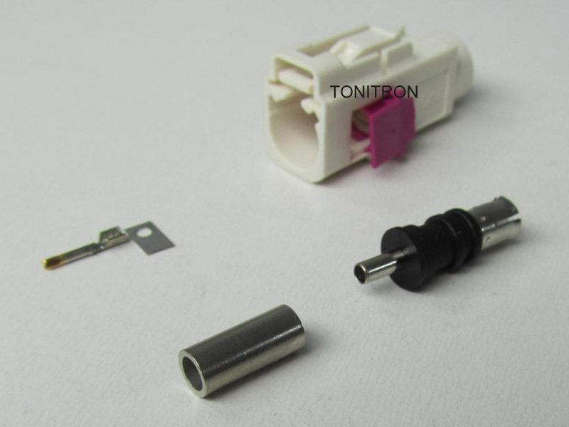 fakra kupplung wei rg 174 antenne gps ukw fm crimpen ebay. Black Bedroom Furniture Sets. Home Design Ideas