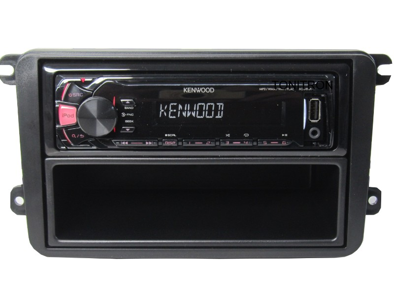 usb mp3 rds car radio radio vw golf 5 6 polo caddy bus 4 x 50 watt kit kenwood ebay. Black Bedroom Furniture Sets. Home Design Ideas
