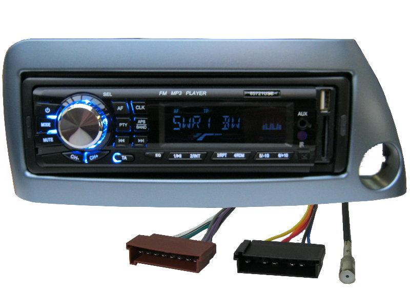 usb mp3 rds autoradio radio ford ka street set 4 x 50 watt blende blau ebay. Black Bedroom Furniture Sets. Home Design Ideas