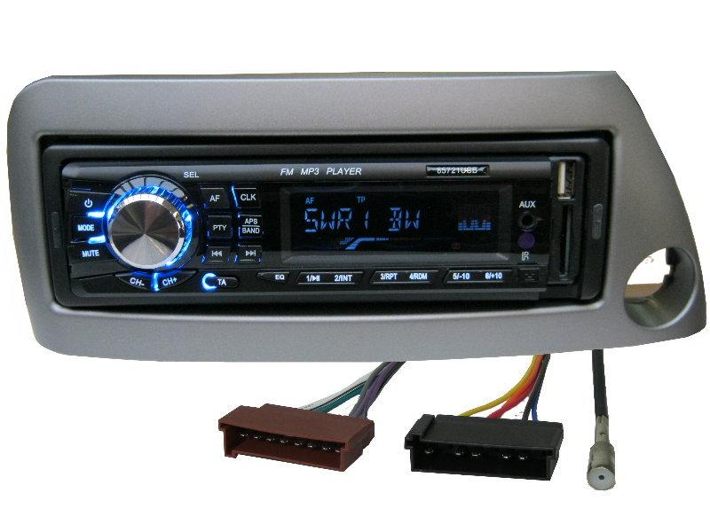 usb mp3 rds autoradio radio ford ka street set 4 x 50 watt blende grau ebay. Black Bedroom Furniture Sets. Home Design Ideas