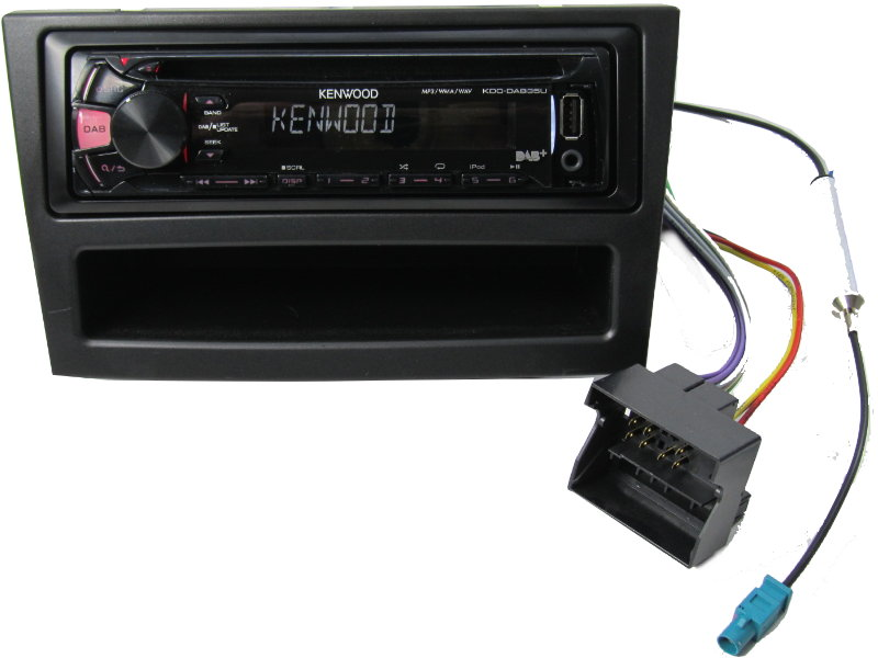 dab cd mp3 usb fm tuner radio kenwood opel astra h corsa. Black Bedroom Furniture Sets. Home Design Ideas