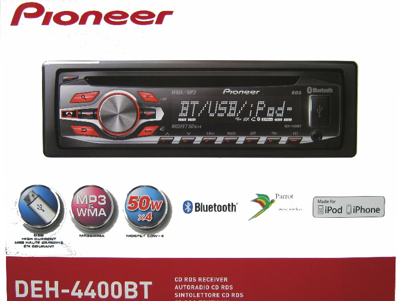 pioneer deh 4400bt bluetooth usb cd mp3 autoradio aux in radio rds ebay. Black Bedroom Furniture Sets. Home Design Ideas