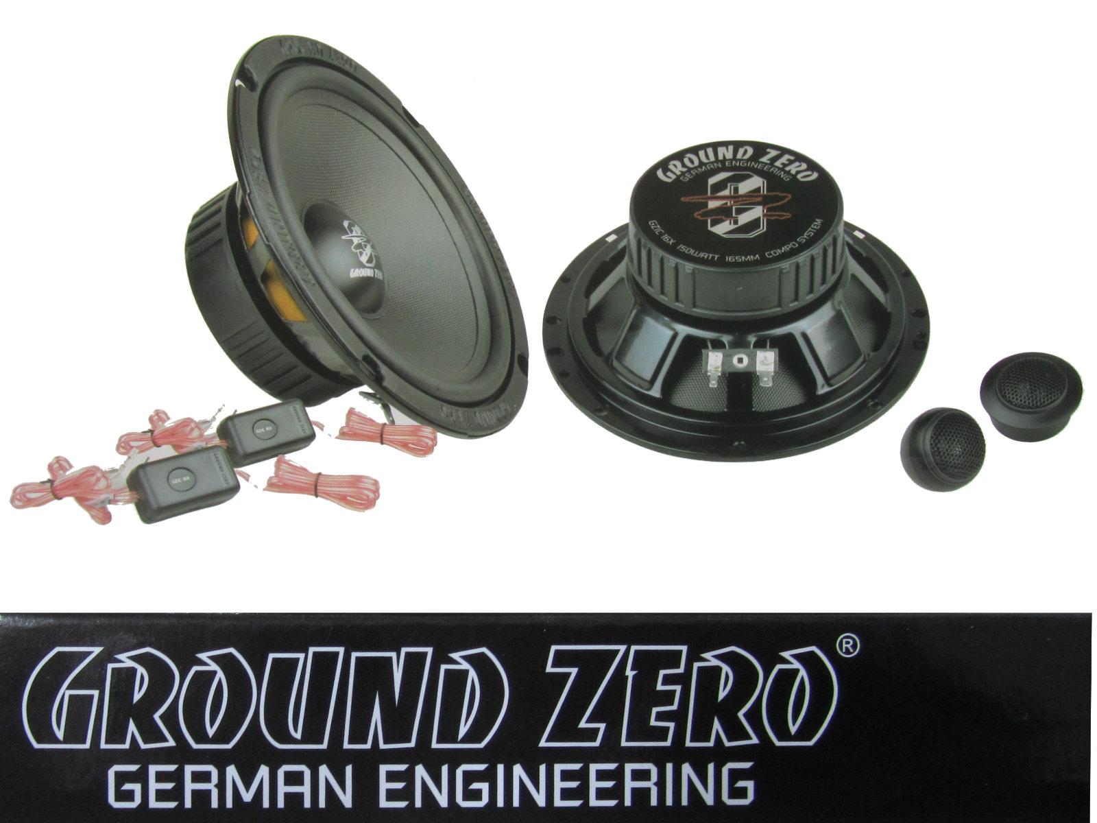 Mercedes Clase C W203 00-07 Ground Zero Altavoz 165mm Componentes
