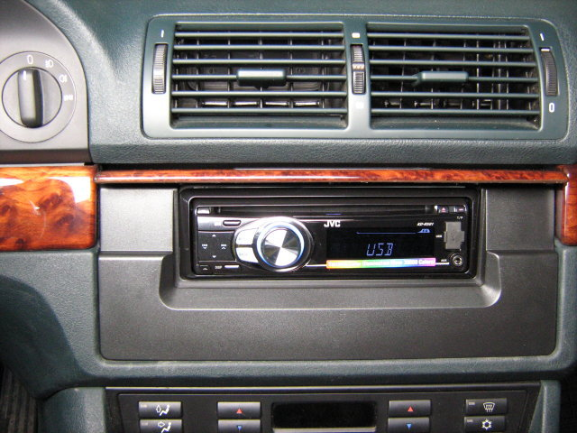bmw 5er e39 din autoradio jvc kd cd einbauset mp3 usb ebay. Black Bedroom Furniture Sets. Home Design Ideas