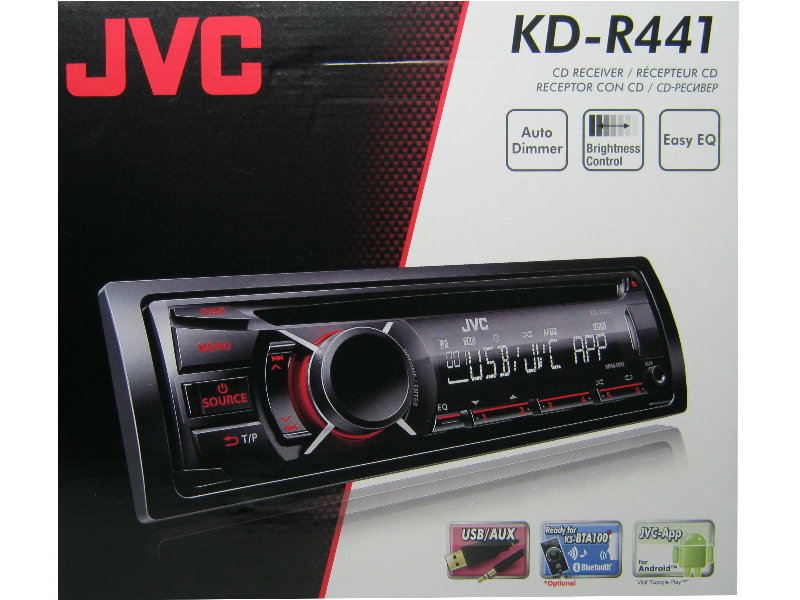 jvc kd r441 usb cd mp3 autoradio aux in radio rds ebay. Black Bedroom Furniture Sets. Home Design Ideas