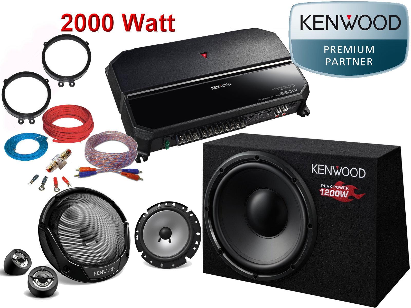 KENWOOD LAUTSPRECHER für MERCEDES C-KLASSE W203 2000-2007 Front Vorn 250W #AX0O