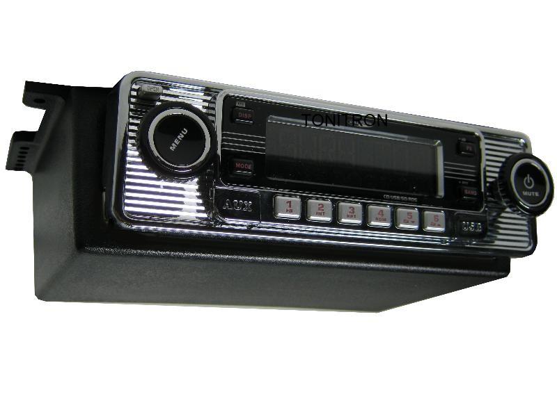 usb cd mp3 retro oldtimer autoradio unterbaukonsole. Black Bedroom Furniture Sets. Home Design Ideas