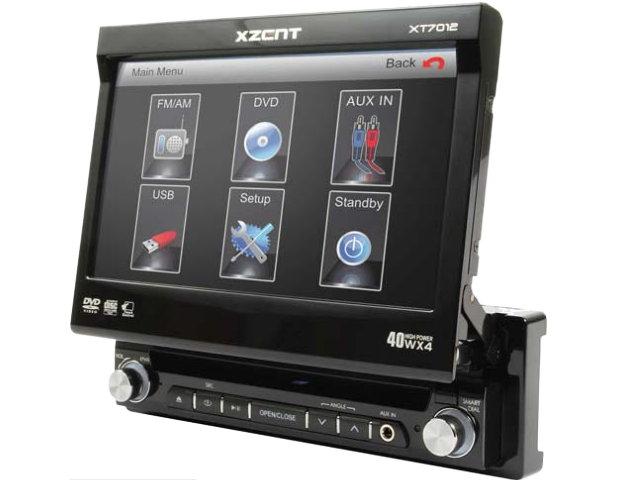 xzent xt 7012 touchscreen usb dvd cd mp3 moniceiver ebay. Black Bedroom Furniture Sets. Home Design Ideas